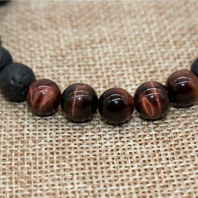 8mm Beads Natural Aromatherapy Lava Stone Healing Bracelet For Men Women Jewelry 9