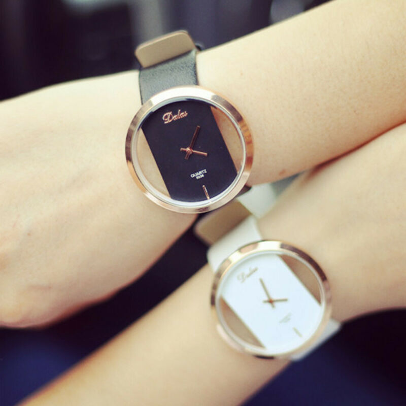 Fashion Girl Women Classic Casual Quartz Watch Leather Strap Wrist Watches Gift 4