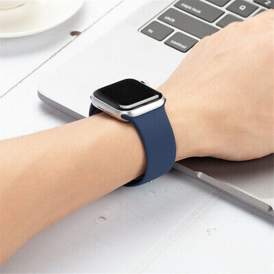 38/42/40/44mm Silicone Sports Band iWatch Strap for Apple Watch Series 5 4 3 2 1 6