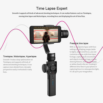 Zhiyun Smooth 4 3-Axis Handheld Smartphone Gimbal Stabilizer for iPhone XS Max X 5