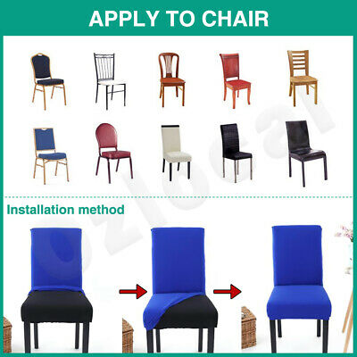 1/4/6/8Pcs Stretch Dining Chair Cover Removable Slipcover Washable Banquet Event 5