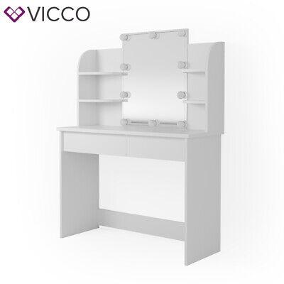 Vicco Table de maquillage Charlotte commode de coiffeuse miroir LED blanc 2