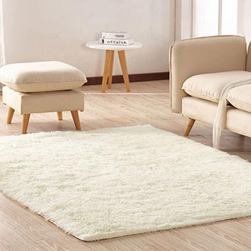 Fluffy Rugs Anti-Skid Shaggy Areas Rug Dining Room Carpet Floor Mat Home Bedroom 7