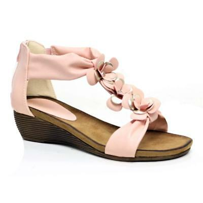 Ladies Wedge Sandals Womens Heels New Fancy Summer Dress Party Beach Shoes Size 8