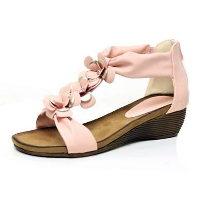 Ladies Wedge Sandals Womens Heels New Fancy Summer Dress Party Beach Shoes Size 9