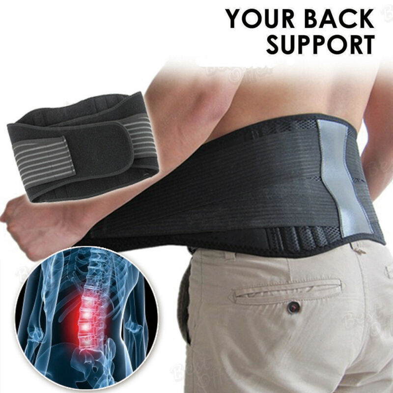 Back Support Brace Belt Lumbar Lower Waist Magnetic Pain Relief Adjust Trimmer 4