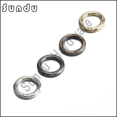Rund Schnapphaken Karabinerhaken Verbinder Schlüssel Ring 15-50 mm 1 bis100Stück 4