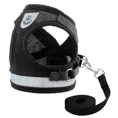 Cat Walking Jacket Harness Leash Escape Proof Adjustable Pet Puppy Dog Mesh Vest 6