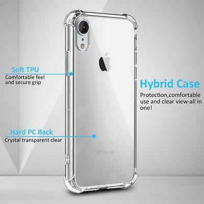 Fits Iphone XS Max Case Clear Hybrid Shockproof Bumper TPU Cover