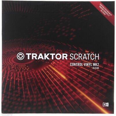 TRAKTOR SCRATCH CONTROL VINYL MK2 clear vinile timecode per DJ NUOVO