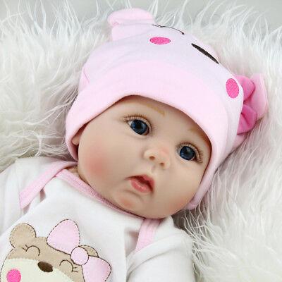 22'' Realistic Newborn Girl Silicone Vinyl Reborn Baby Dolls Handmade Xmas Gift 7