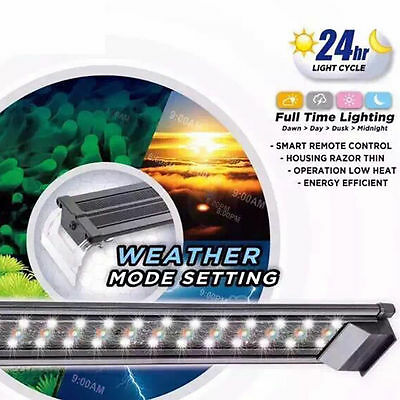 "Aquarium LED Fish Tank RGB Color Light Tropical Freshwater 36"" 90CM remote 24HR 2"