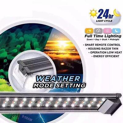 "Aquarium LED Fish Tank RGB Color Light Tropical Freshwater 24"" 60CM remote 24HR 2"