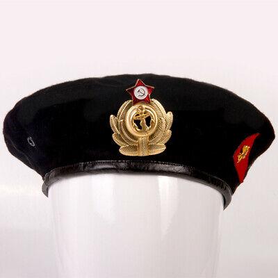 Black Military Beret Hat size 59-60 Russian Soldier Cap 2