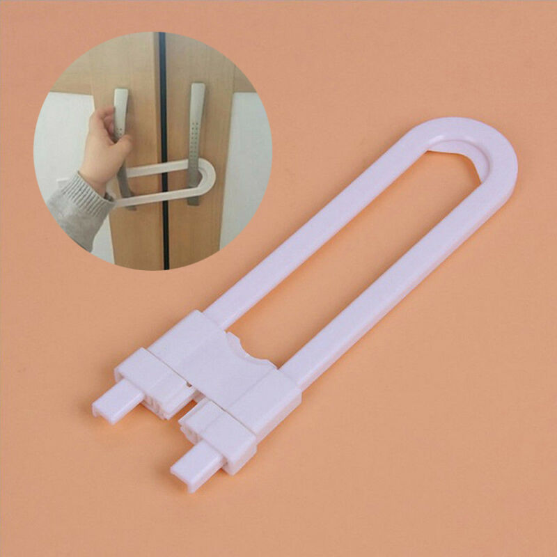 Baby Safety Lock U Shape Kids Cabinet Locks Protection Cabinet Security Locking 11