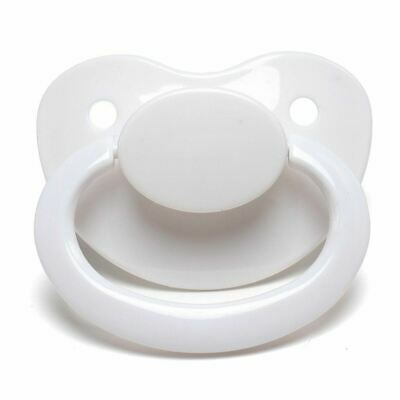 LittleForBig Adult Sized Pacifier Dummy for ADULT BABY ABDL BigShield White 5