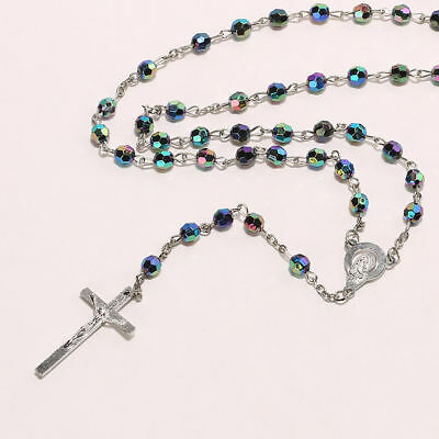 925 Sterling Silver Catholic Crucifix Christian Jesus Christ Cross Necklace 2