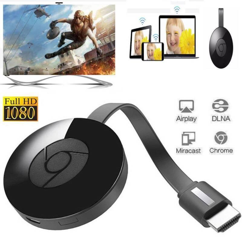 Chromecast(wacast) (3rd Génération) Media Streamer Smart Home Automation-Noir 2