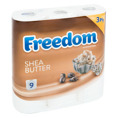 45 Rolls Freedom Inspirations Quilted Shea Butter 3 Ply Toilet Paper 4