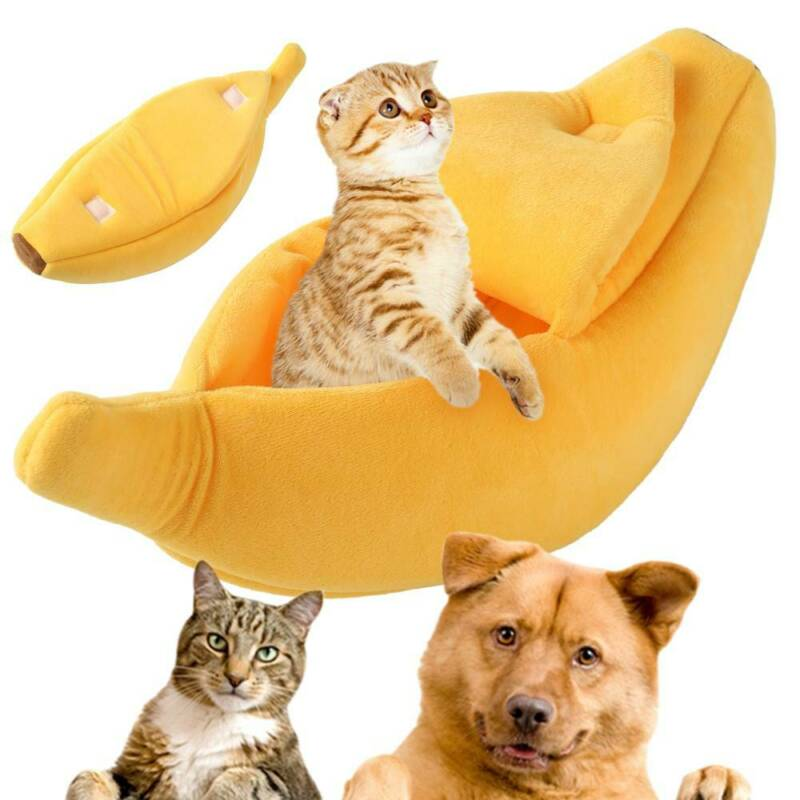 Banana Cat Dog House Soft Warm Puppy Kennel Sleeping Bed House Tent Pet Supplies 2