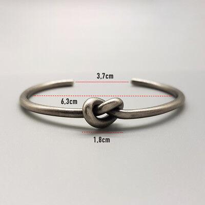 Bracciale uomo rigido nodo acciaio inossidabile da braccialetto in con inox 6