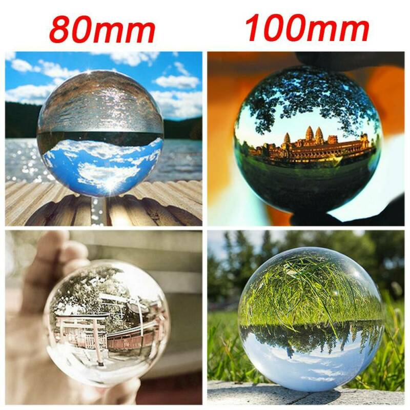 80mm 100mm Klar Fotokugel Glaskugel Fotografie Glass Kristallkugeln Crystal Ball 10