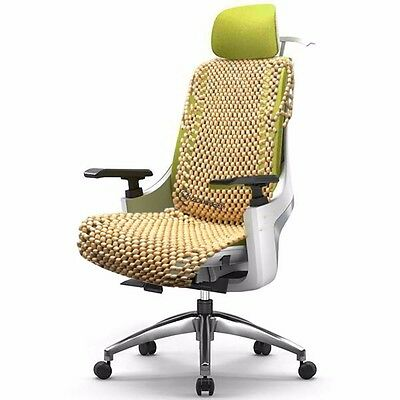 2 Of 5 Zone Tech Natural Wooden Beaded Car Seat Cover Massage Cool Cushion