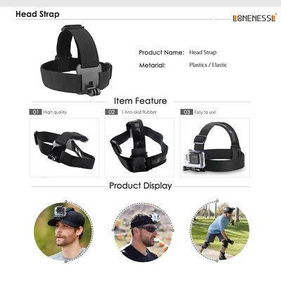 GoPro Accessories Kit Action Camera Accessory set Bundle Chest Strap Head Mount 3