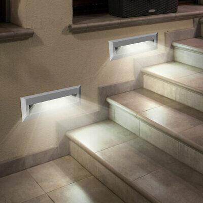 4x LED Exterior Pared Fachadas Lámparas Jardín Balcón Niveles Foco Gris Big Luz 5