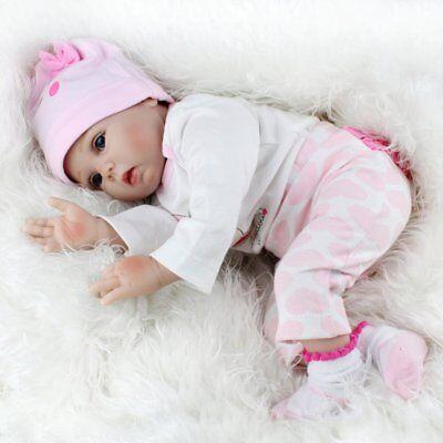 22'' Reborn Baby Dolls Realistic Vinyl Silicone Newborn Girl Doll Handmade Gifts 10