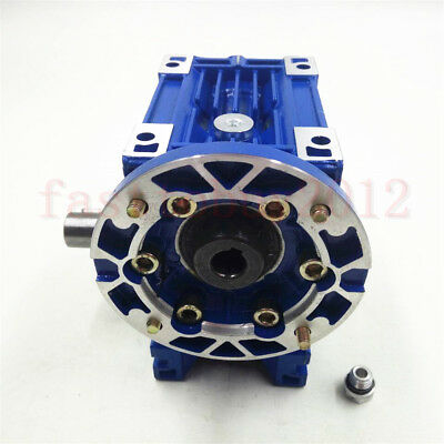 Worm Gearbox 56B14 Flange Reducer 10:1 15:1 30:1 Stepper Asynchronous Motor 5