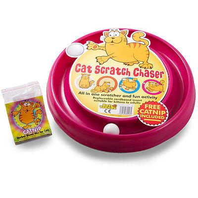 PetzTrendz® Cat Scratch Chaser FREE Cat-Nip - 3 Colours & Refills Available 11