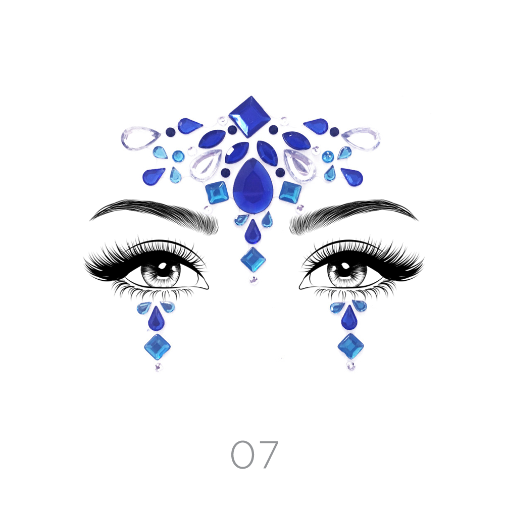 df54fbd2c Face Crystal Sticker Eye Crafted Body Jewels Festival Temporary Tattoo  Glitter 12 12 of 12 See More