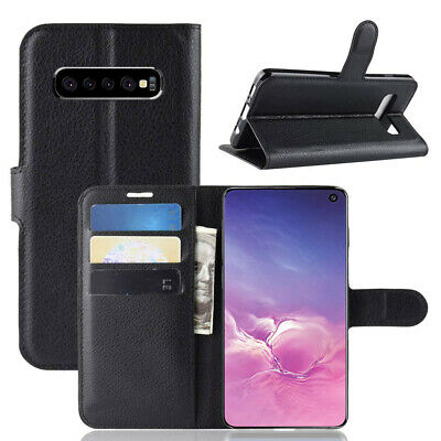 Wallet Leather Flip Case Cover Samsung Galaxy S6 S7 Edge S8 S9 S10 Plus S10e 5G 2