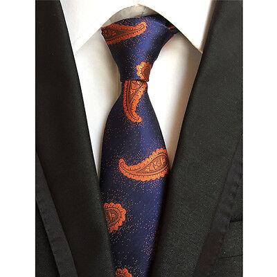 Men Classic Silk Paisley Tie Jacquard Woven Necktie Pocket Square Handkerchief 10