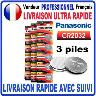 Pile CR2032 Lithium 3V PANASONIC Pile bouton 3