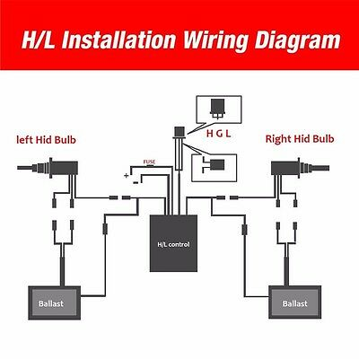 55watt hid xenon headlight conversion kit 9005/h4/9006 ... osram hid ballast wiring diagram h3 hid ballast wiring diagram