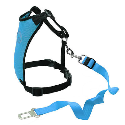 Breathable Air Mesh Dog Car Harness for Small Large Dogs Travel Seat belt Clip 6