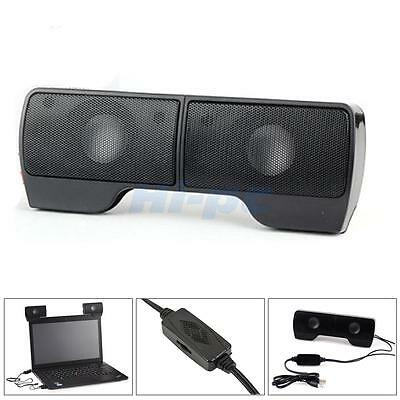 Hot Wall-mounted External Computer USB Speaker Stereo for Music Player Laptop PC 2