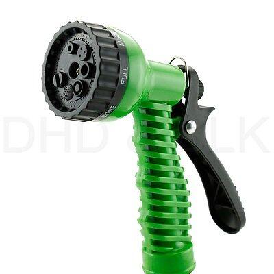 Deluxe 25 50 75 100 Feet Expandable Flexible Garden Water Hose w/ Spray Nozzle 6
