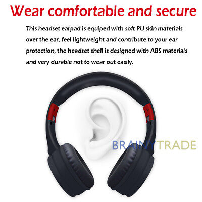 Bluetooth Wireless Headphones Over Ear Headset Noise Cancelling With Microphone 3