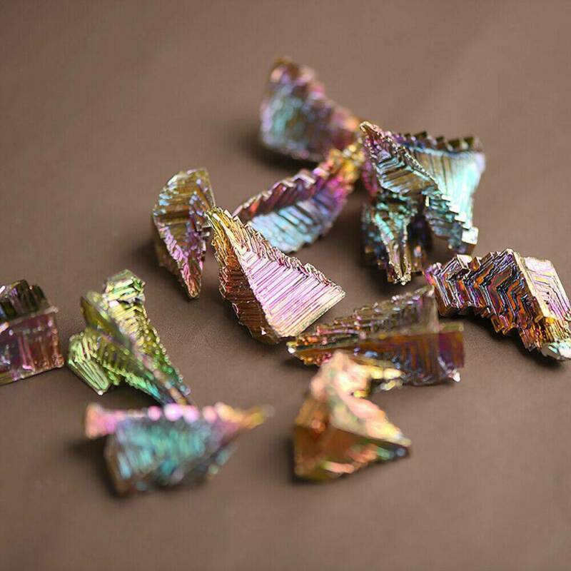 Top Natural Quartz Crystal Rainbow Titanium Cluster VUG Mineral Specimen Healing 10