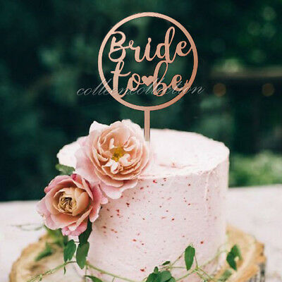 BRIDE TO BE Acrylic Mirror Rose Gold Cake Topper Hen Parties Event  Decorations