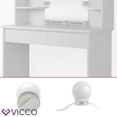 Vicco Table de maquillage Charlotte commode de coiffeuse miroir LED blanc 6