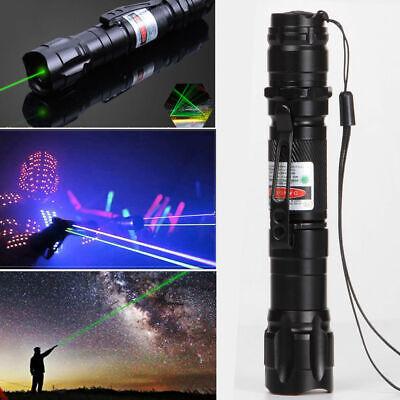 High Power Green Laser Pointer Military Beam Lazer Pen +Star Cap +Belt Clip USA! 4