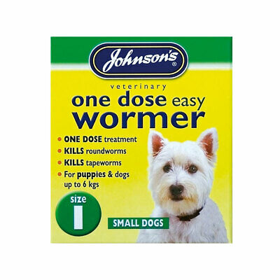 Johnson's One Dose Wormer Puppy Dog Roundworm Tapeworm Worming Tablets All Sizes 2