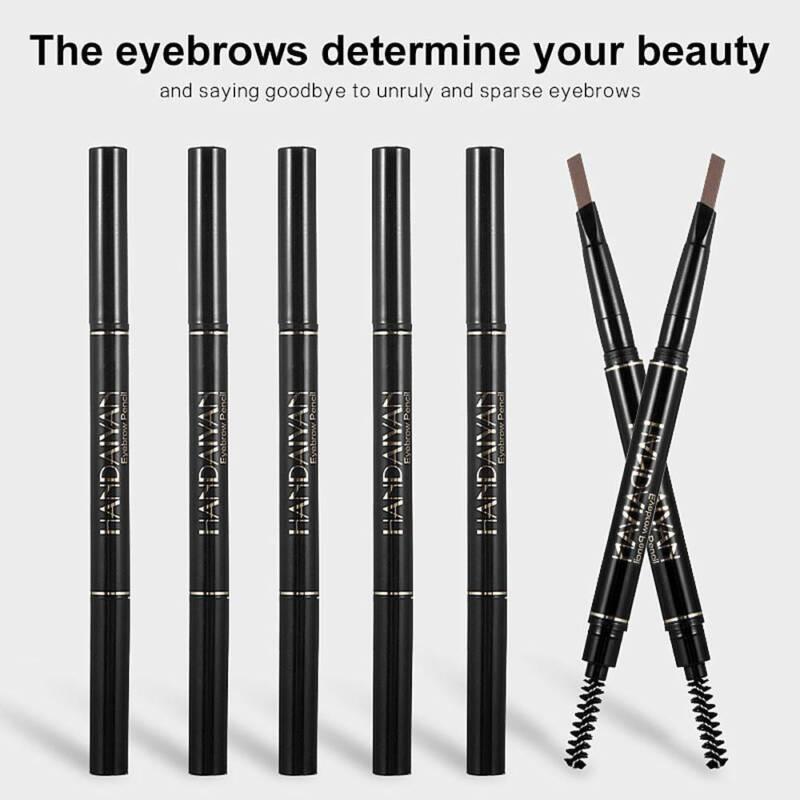 HANDAIYAN 2 in 1 Waterproof Eye Brow Eyeliner Eyebrow Pen Pencil With Brush 8