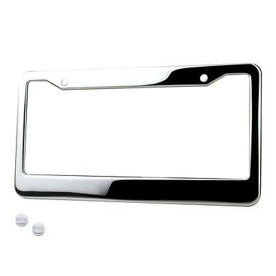 1 PC CHROME Stainless Steel Metal License Plate Frame Tag Cover ...
