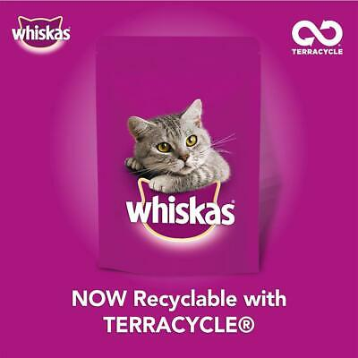 80 x 100g Whiskas 1+ Adult Wet Cat Food Pouches Mixed Poultry Jelly 10