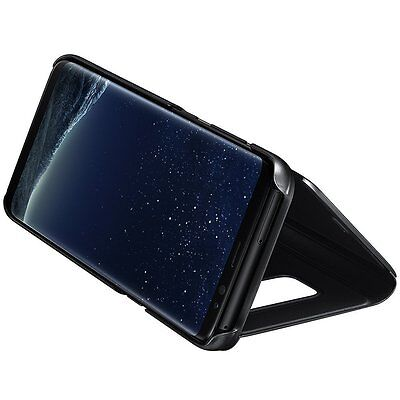housse etui coque flip cover  miroir + film incurvé pour galaxy s8 / s8 plus 4